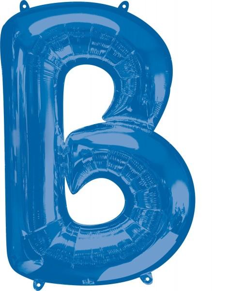 Foil balloon letter B blue XL 81cm