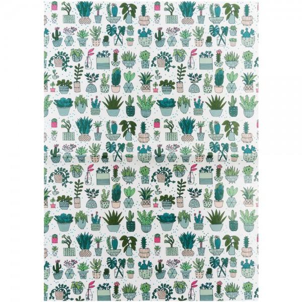 Paper Patch Papierbogen Kaktus 30x42cm