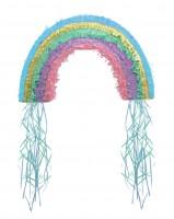 Süße Wolkenwelt Regenbogen Zugpinata