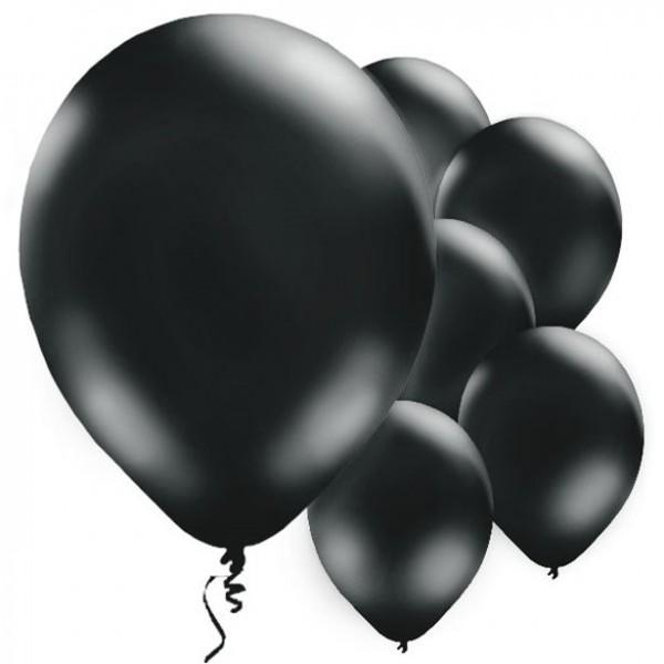 10 Schwarze Luftballons Passion 28cm