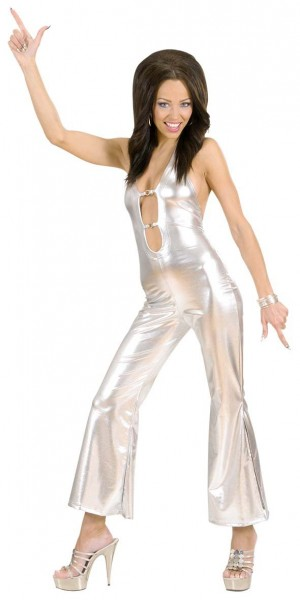 Sexy disco glamor jumpsuit costume