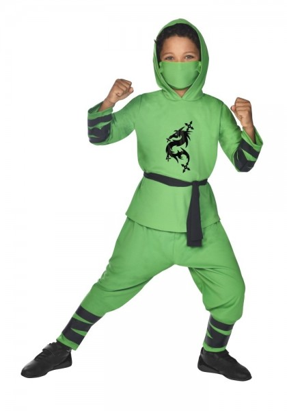 Ninja Children's Costume Green
