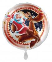 Happy Santa Christmas Folienballon 45cm