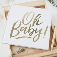 Oh Baby Gästebuch 21 x 21cm