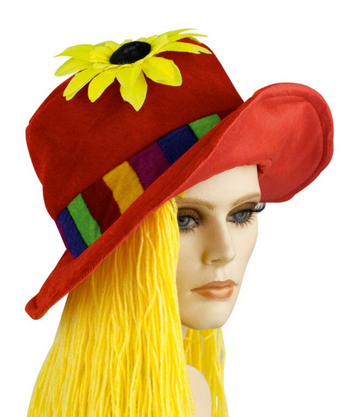 Chapeau hippie Flower Power
