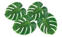 4 grüne Hawaii Palmen Dekoblätter