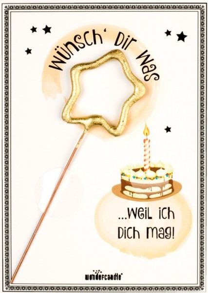 Wünsch dir was Wondercard gelb