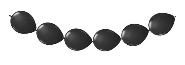 8 Ballons schwarz für Girlanden 3m