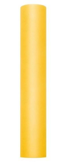 Tüll Stoff Luna gelb 9m x 30cm