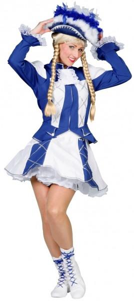 Funkenmariechen Tanzmariechen Damenkostüm In Blau-Weiß