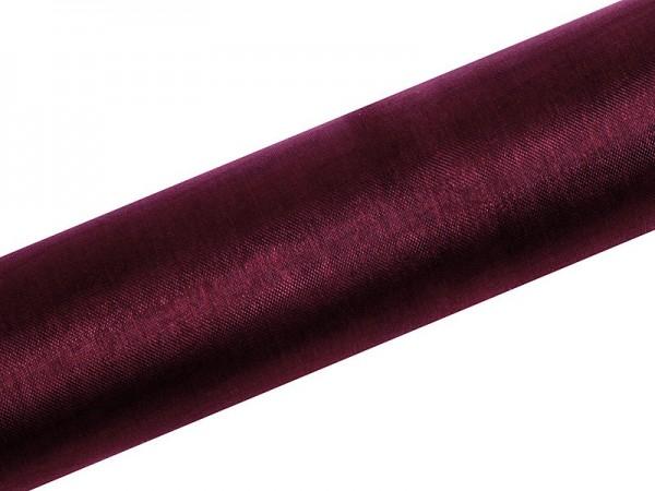 Tissu Organza Julie bordeaux rouge 9m x 16cm