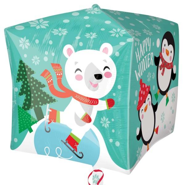 Ballon cube amusement d'hiver drôle animal