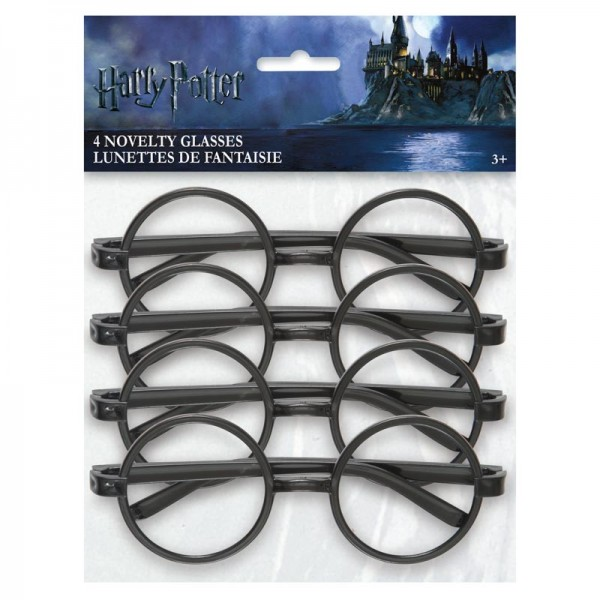 4 Harry Potter Hogwarts glasses