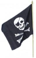 Piraten Totenkopf Flagge 45 x 30cm