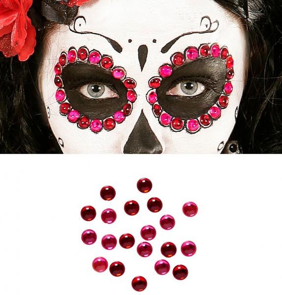 40 rote und pinke Accessoire Steinchen