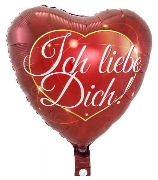 Folienballon Ich liebe Dich Herzilein 1