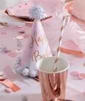 Geburtstagshut Flitter roségold