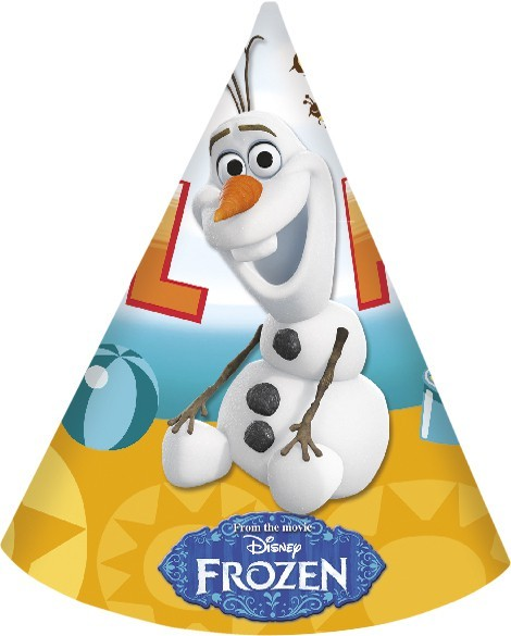 6 Olafs zomer leuke feestmutsen 16cm