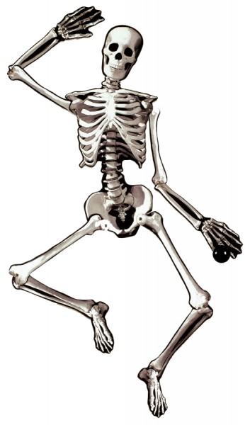 Beweglicher Skelett Türhänger 1,34m