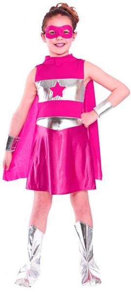 Superheldin Starlight Kinderkostüm Pink