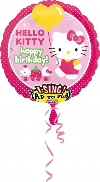 Ballon d'anniversaire Hello Kitty avec son