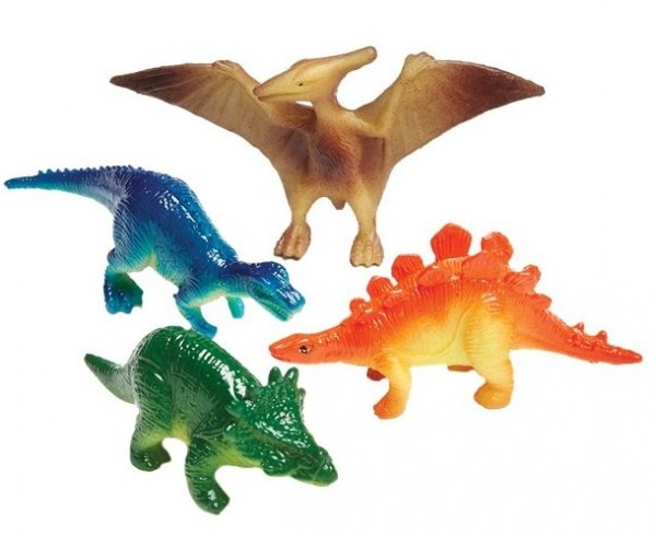 4 Dino friends giveaway figures