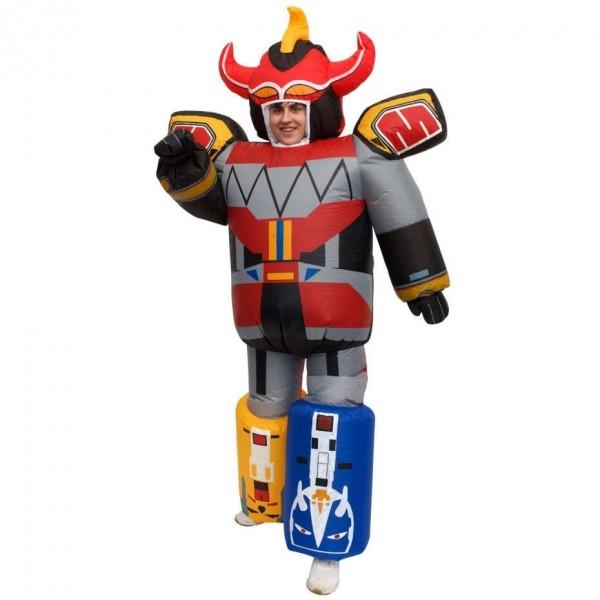 Aufblasbares Megazord Megamorph Kostüm