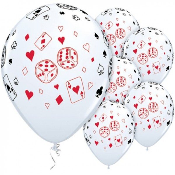 25 Qualatex playing cards balloons 28cm