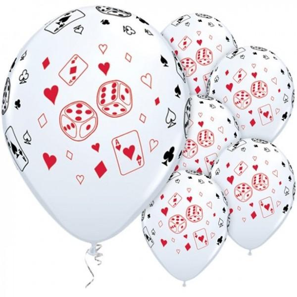 25 Qualatex Spielkarten Ballons 28cm