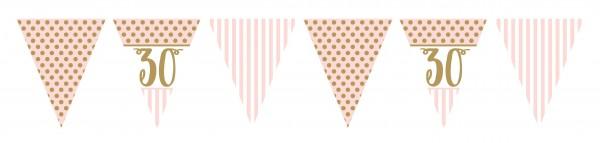 Encantadora cadena de banderín de cumpleaños número 30 de 3,7 m