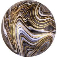 Marblez Orbz Ballon schwarz 38 x 40cm
