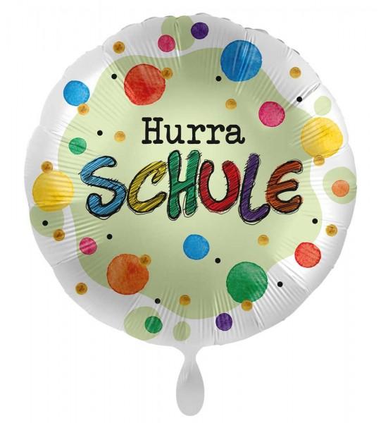 Hurra Schule Satin Folienballon 71cm