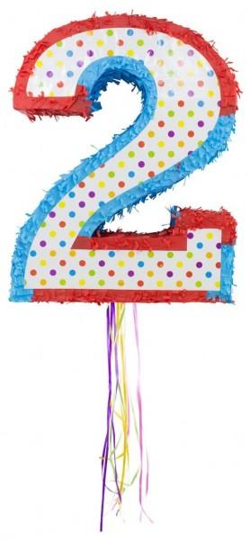 Pinata colorful number 2