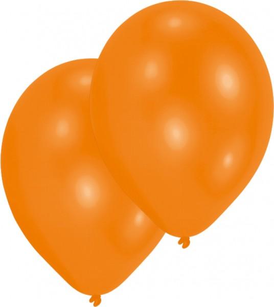 10er-Set Luftballon Orange 27,5cm
