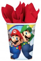 8 Super Mario Brothers Pappbecher 266ml