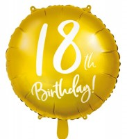 Golden 18th Birthday Folienballon 45cm