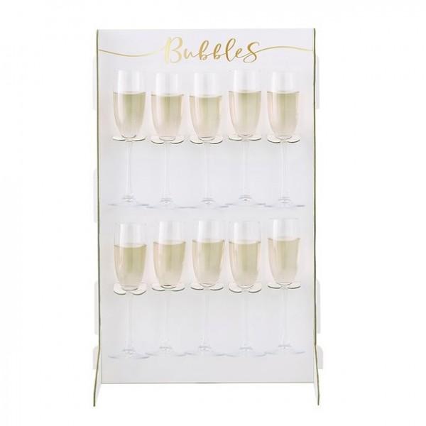 Sektglas-Wand Getränkehalter 60cm