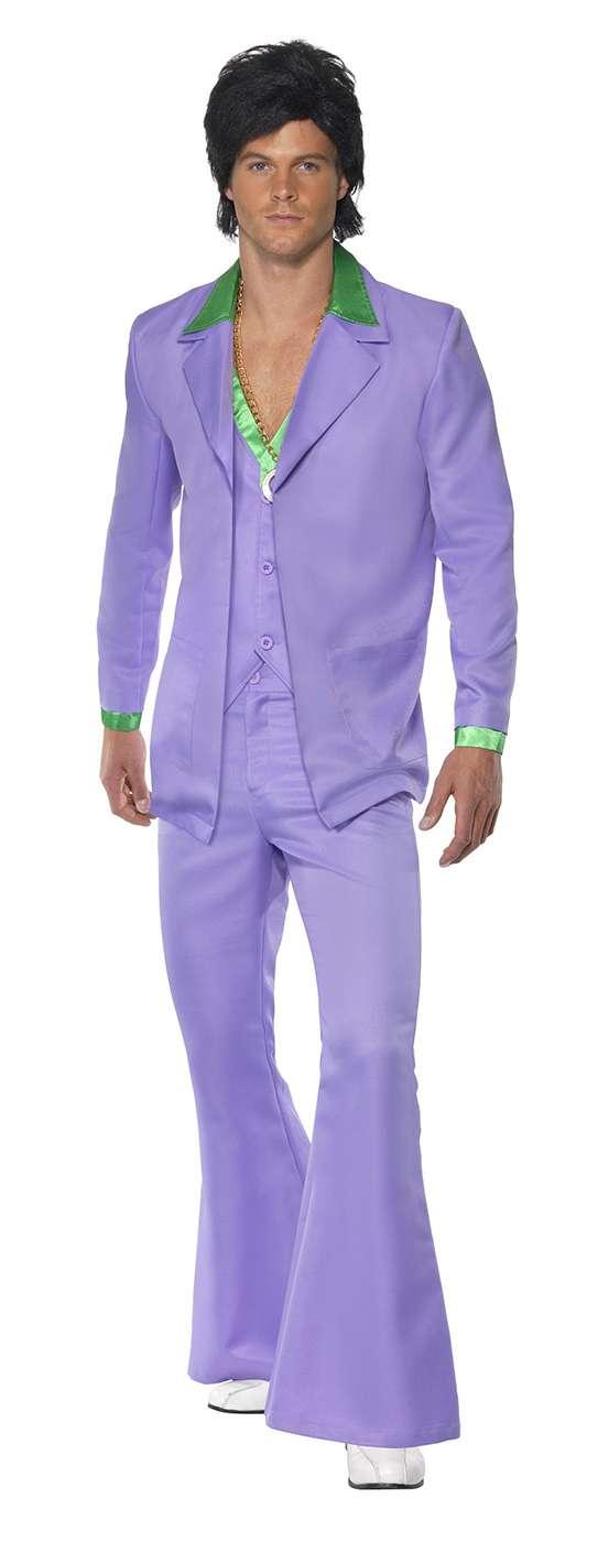 Disco Anzug Lavendel 70er Jahre Für Herren