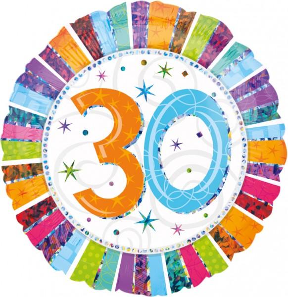 Kleurrijke 30e Verjaardag ballon 45cm