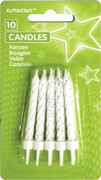24 STK cumpleaños velas pastel velas tortenkerzen soporte fiesta candeleros