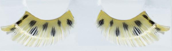 Gelb Schwarze Wimpern