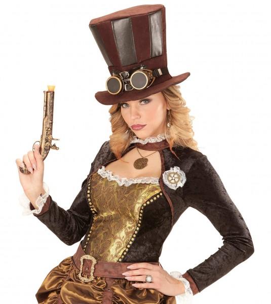 Sombrero de copa steampunk Philomena