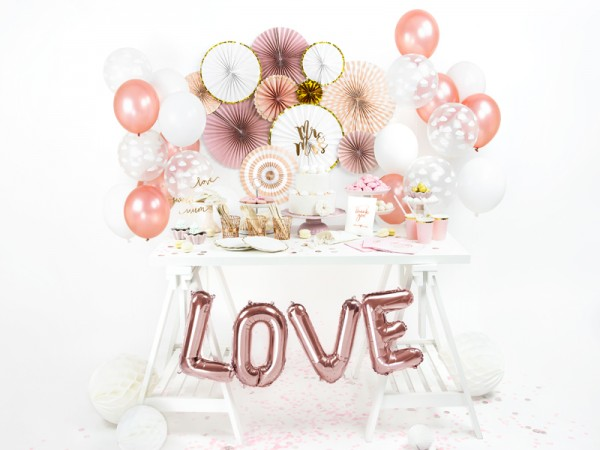 Foil balloon E rose gold 35cm