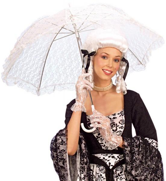 Weißer Edeldamen Schirm