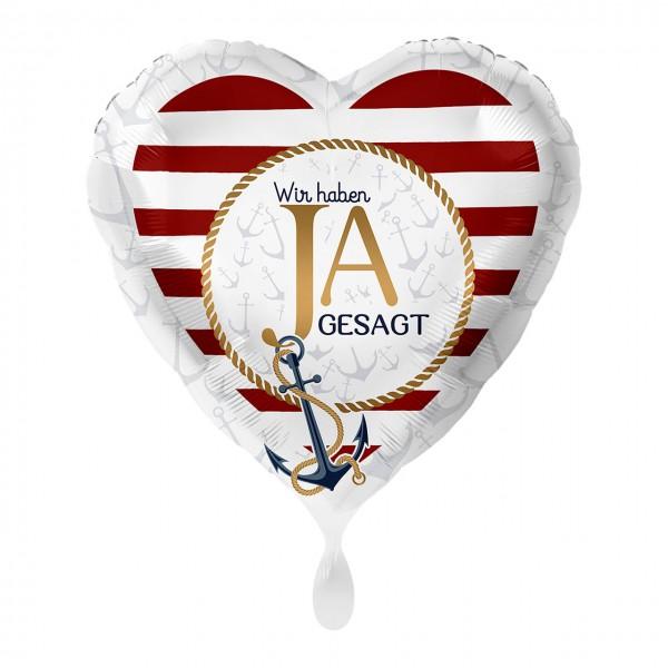 Ja Herz Folienballon maritim 43cm