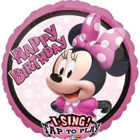 Ballon à musique Minnie Mouse chantant 71cm