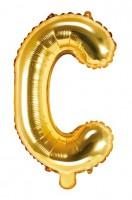Folienballon C gold 35cm