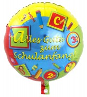 Schulstart Folienballon 45cm