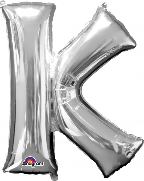 Folienballon Buchstabe K silber 83cm