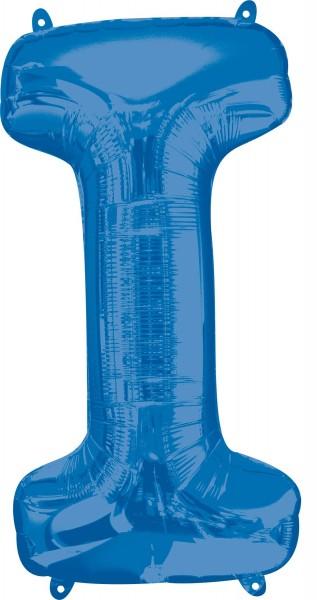 Ballon aluminium lettre I bleu XL 81cm